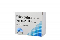 Trimebutina 200 mg + Simeticona 120 mg Caja Con 30 Tabletas Rx