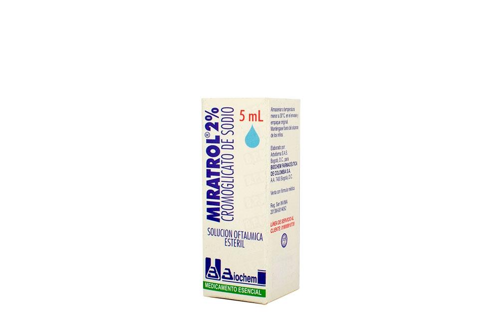 Miratrol 2% Gotas Frasco Con 5 mL