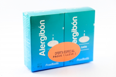 Jabón Alergibón Leche Caja Con Barra Con 90 g – Pague 1 Lleve 2