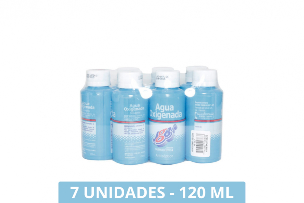 Agua Oxigenada Frasco 120 Ml Pague 6 Lleve 7 Unidades