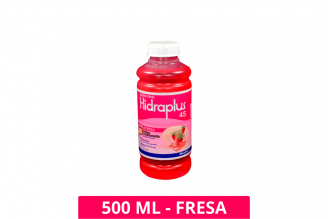 SUERO ORAL HIDRAPLUS SABOR FRESA 45 - 500 ML