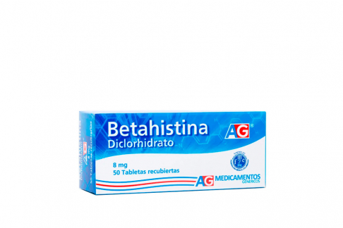 Betahistina 8 mg Caja x 50 Tabletas RX