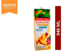 Bebida De Durazno + Almendra Sin Azúcar Nature's Heart Frasco Con 946 mL