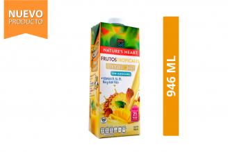 Bebida De Frutos Tropicales + Almendra Sin Azúcar Nature's Heart Frasco Con 946 mL