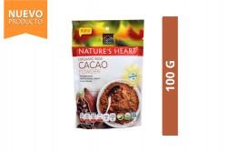 Polvo De Cacao Orgánico Nature's Heart Bolsa Con 100 g