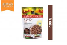 Cacao Nibs Orgánico Nature's Heart Bolsa Con 100 g