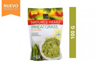 Wheatgrass Germinado De Trigo Orgánico En Polvo Nature's Heart Bolsa Con 100 g