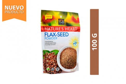 Flax - Seed Linaza Molida Orgánica Nature's Heart Bolsa Con 100 g