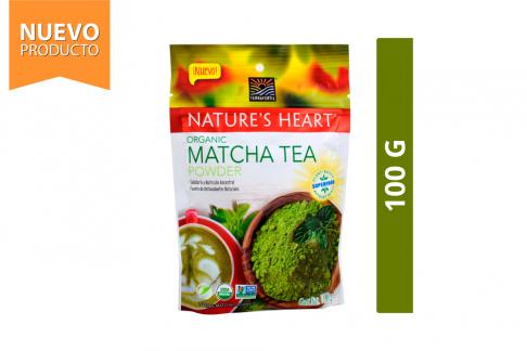 Matcha Te Verde Orgánico En Polvo Nature's Heart Bolsa Con 100 g