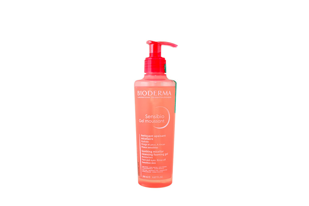 Limpiador Facial Bioderma Sensibio Gel Moussant Frasco Con 200 mL