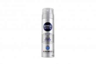 Gel Para Afeitar Nivea For Men Silver Protect Frasco Con 200 mL