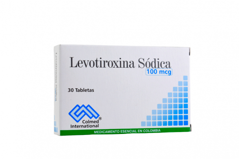 Levotiroxina 100 mcg Caja Con 30 Tabletas Rx