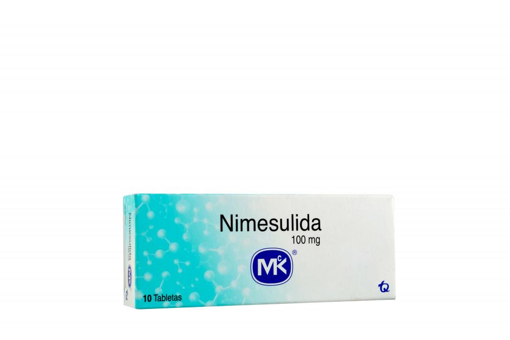 Nimesulida 100 mg Caja Con 10 Tabletas Rx