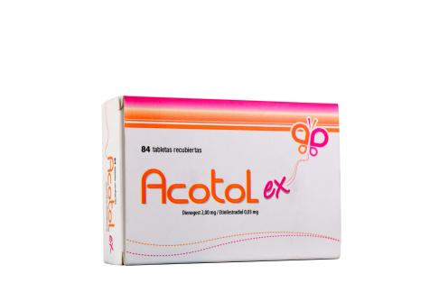 Acotol Ex 2 / 0,03 mg Caja Con 84 Tabletas Recubiertas Rx