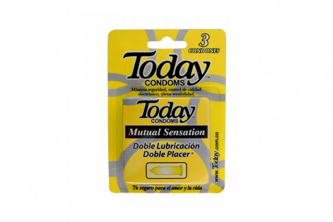Condones Today Mutual Sensation Caja Con 3 Unidades