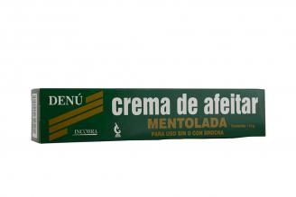 Crema Para Afeitar Denú Mentolada Caja Con Tubo Con 110 g