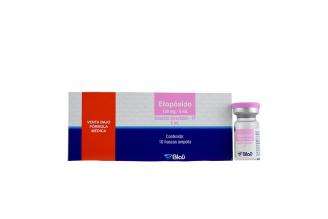 Etopósido 100 mg Solución Inyectable Caja Con 10 Frascos Ampolla RX4