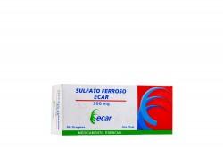 Sulfato Ferroso 200 mg Caja Con 50 Grageas Rx