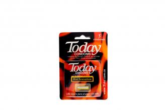 Condones Today Hot Sensation Empaque Con 3 Unidades