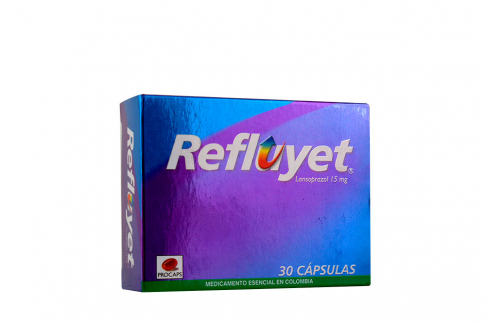 Refluyet 15 mg Caja Con 30 Cápsulas Rx
