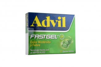 Advil Fastgel Dolor y Fiebre Caja Con 10 Cápsulas Líquidas