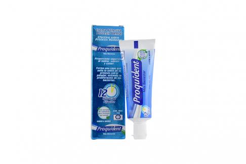 Crema Adhesiva Proquident Para Prótesis Dental Sabor Menta Caja Con Tubo Con 40 g