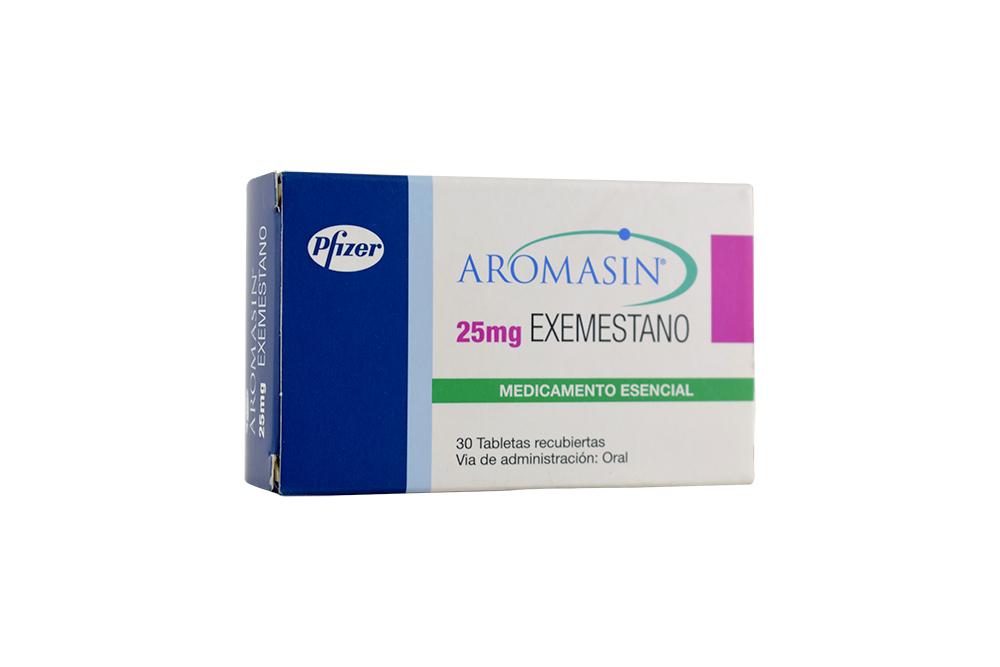 Aromasin 25 mg Caja Con 30 Tabletas Recubiertas Rx4 Rx1