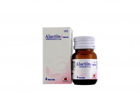 Alactin 0.5 mg Caja Con Frasco Con 4 Tabletas Rx4 Rx1