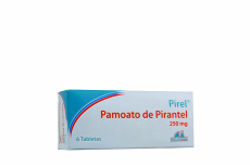 Pirel Palmoato De Pirantel 250 mg Caja Con 6 Tabletas Rx