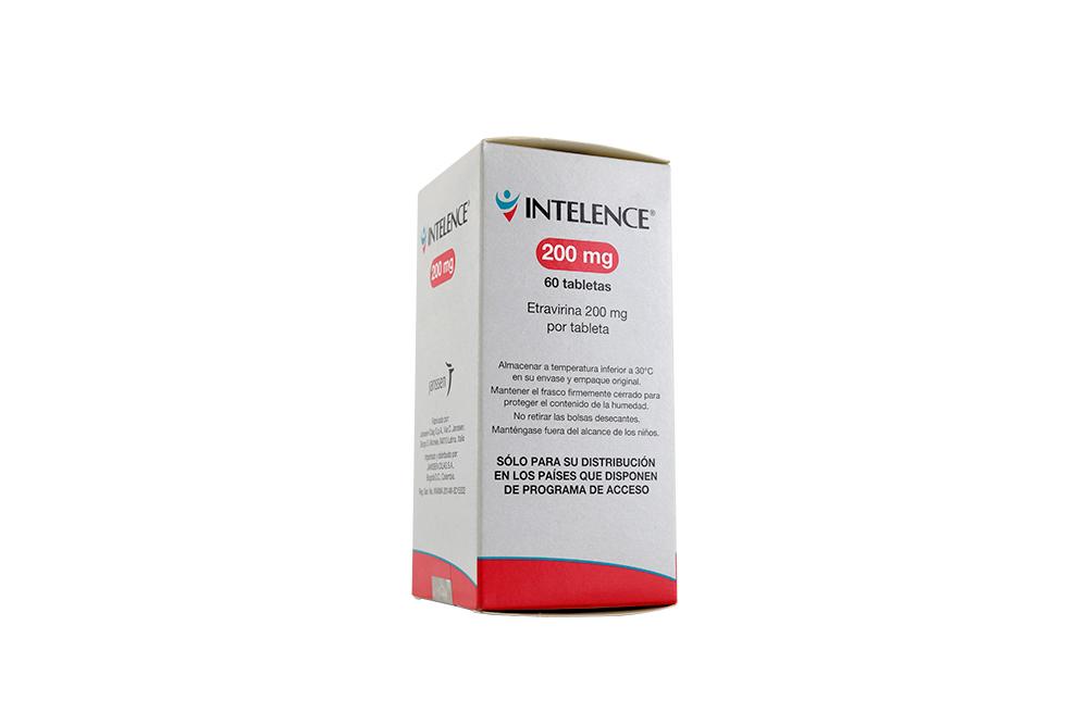 Intelence 200 mg Caja Con Frasco Con 60 Tabletas Rx Rx4