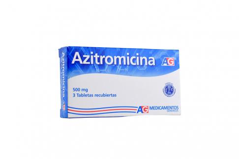 Azitromicina 500 mg Caja Con 3 Tabletas Recubiertas Rx2