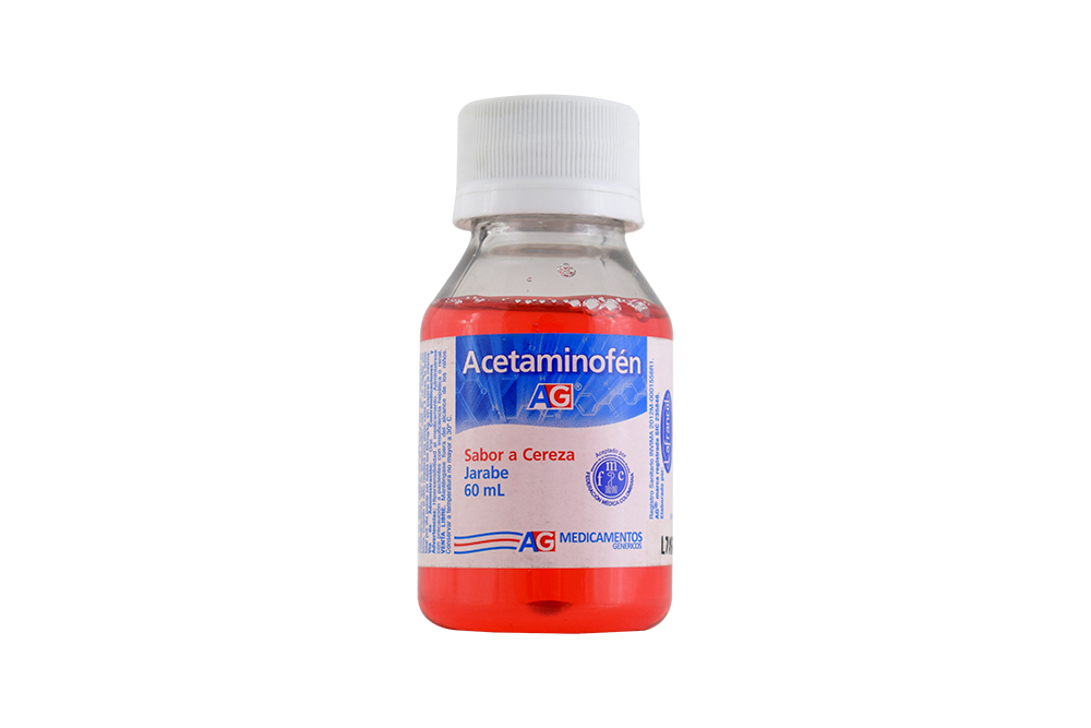 Acetaminofén Jarabe Frasco Con 60 mL - Sabor Cereza