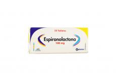 Espironolactona 100 mg Caja Con 20 Tabletas Rx