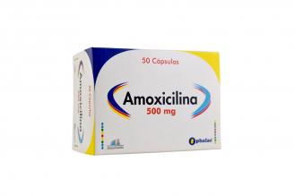 Amoxicilina 500 mg Caja X 50 Capsulas Rx2