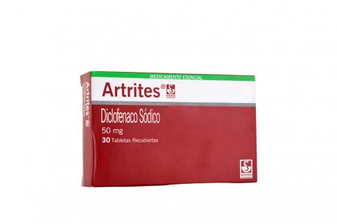 Artrites 50 mg Caja Con 30 Tabletas Rx