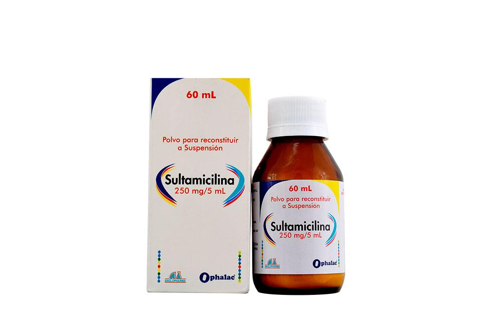 Sultamicilina 250 mg Frasco Con 60 mL Polvo Para Reconstituir Rx2