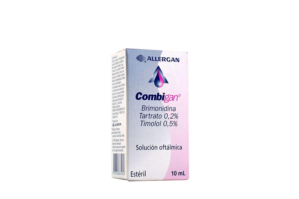 Combigan 0.2 / 0.5 % Solución Oftálmica Caja Con Frasco Con 10 mL Rx4