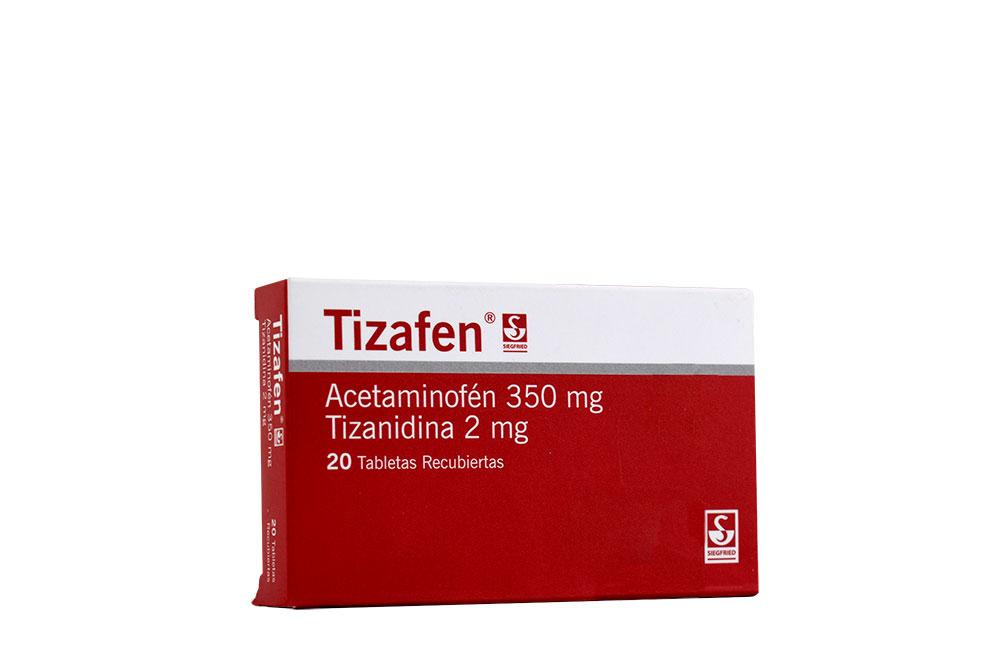 Tizafen 350 / 2 mg Caja Con 20 Tabletas Recubiertas Rx