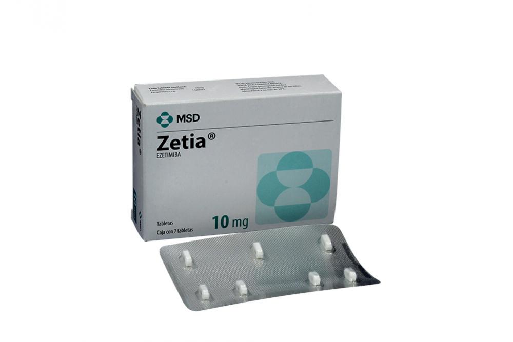 Zetia 10 mg Caja Con 7 Tabletas Rx