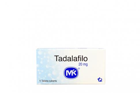 Tadalafilo 20 mg Caja Con 1 Tableta Cubierta