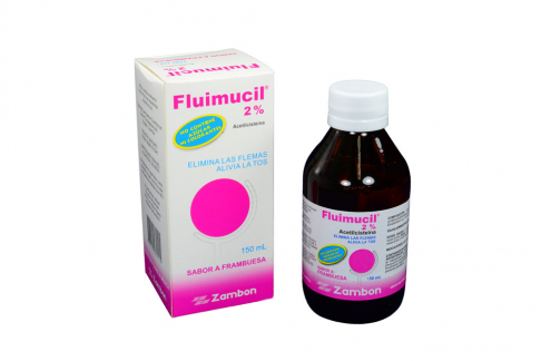 Fluimucil 2% Caja Con Frasco x 150 mL Jarabe Sabor A Frambuesa