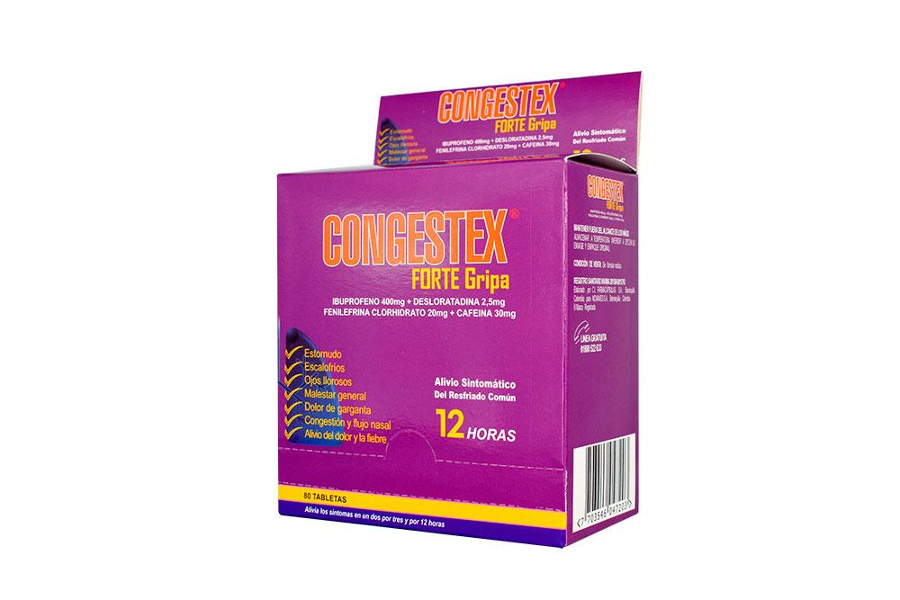 Congestex Forte Gripa Caja Con 80 Tabletas