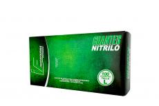 Guante Nitrillo Color Verde Talla L 8 1/2 Caja Con 100 Unidades