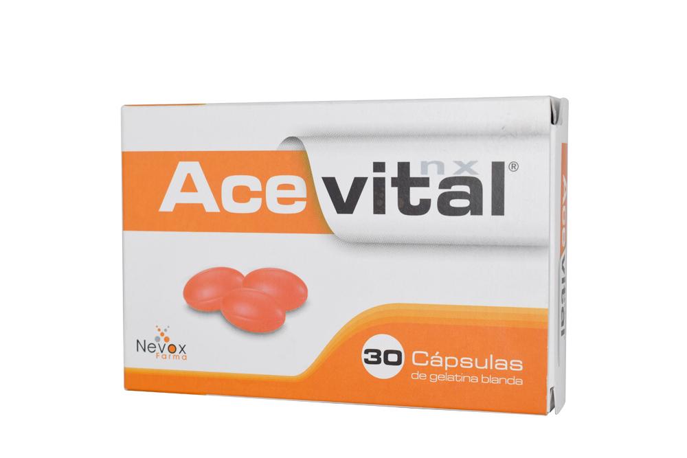 Acevital NX Caja Con 30 Cápsulas De Gelatina - Antioxidante