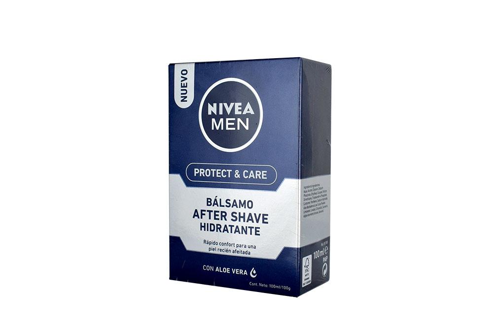 Nivea Bálsamo For Men Shave Piel Normal Caja Con Frasco Con 100 mL