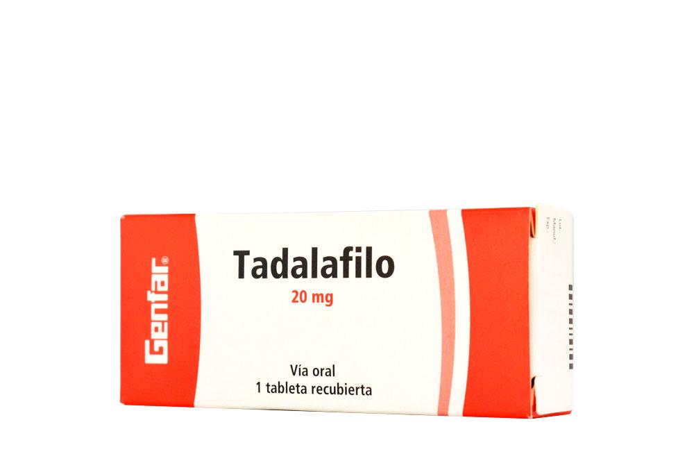 Tadalafilo Genfar 20 mg Caja Con 1 Tableta Recubierta Rx