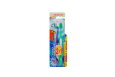 Cepillo Dental Fluo Cardent Multi Clean 7 Empaque Con 2 Unidades