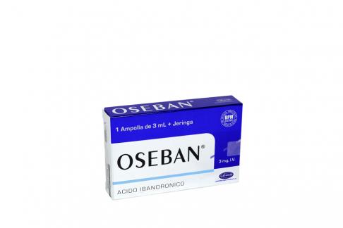 Oseban Inyectable  3 mg / 3 mL Caja Con 1 Ampolla + Jeringa Rx4