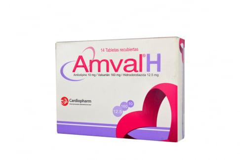 Amval H 10 / 160 / 12.5 mg Caja Con 14 Tabletas Rx