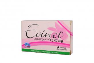 Evinet 0.75 mg Caja Con 4 Tabletas